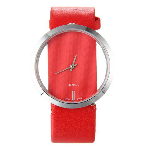Trendy Hollow Silicone Band Femmes Montre