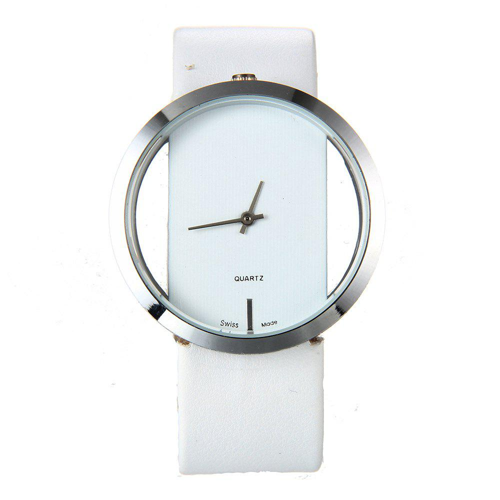 Affordable Trendy Hollow Silicone Band Women Watch