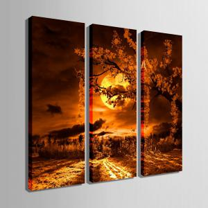 Special Design Frameless Paintings Beautiful Moonlight Pattern 3PCS -