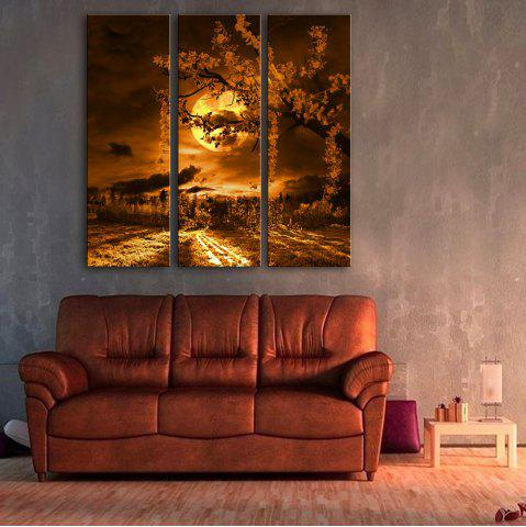 Chic Special Design Frameless Paintings Beautiful Moonlight Pattern 3PCS