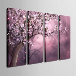 Special Design Frameless Paintings The plum blossom in dream Pattern 4PCS -