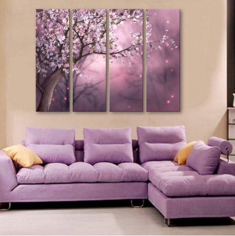 Unique Special Design Frameless Paintings The plum blossom in dream Pattern 4PCS