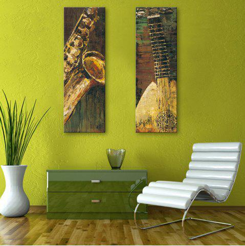 Cheap Special Design Frameless Paintings Abstract Musical Instruments Pattern 2PCS
