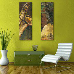 Special Design Frameless Paintings Abstract Musical Instruments Pattern 2PCS -
