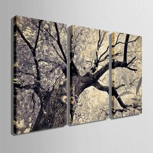 Special Design Frameless Paintings The Lonely Tree Pattern 3PCS -