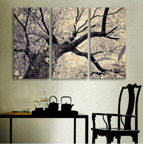 Unique Special Design Frameless Paintings The Lonely Tree Pattern 3PCS