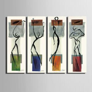 Special Design Frameless Paintings Abstract Human Body Pattern 4PCS -