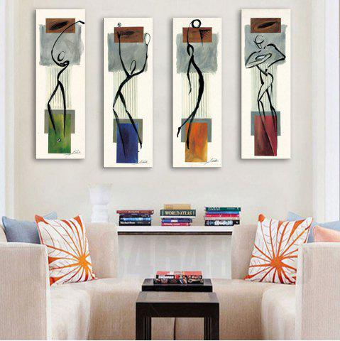 Store Special Design Frameless Paintings Abstract Human Body Pattern 4PCS
