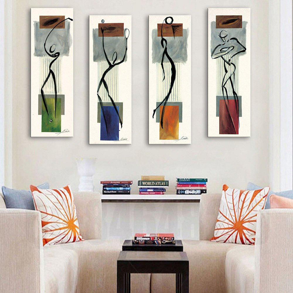 Fancy Special Design Frameless Paintings Abstract Human Body Pattern 4PCS
