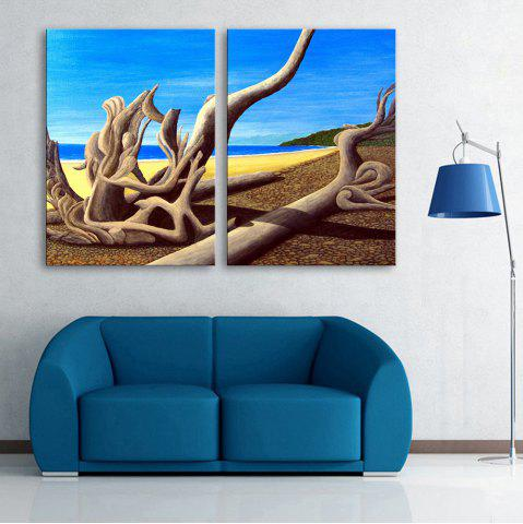 New Special Design Frameless Paintings Dead Sea Pattern 2PCS