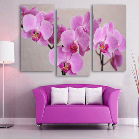 Outfits Special Design Frameless Paintings 	Purple Flowers Pattern 3PCS