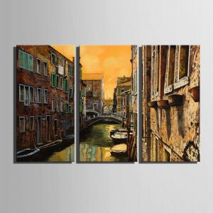 Special Design Frameless Paintings Watery City Pattern 3PCS -