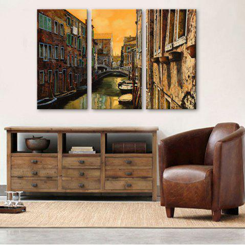 Outfit Special Design Frameless Paintings Watery City Pattern 3PCS