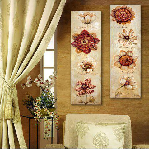 Trendy Special Design Frameless Paintings Abstract Flowers Pattern 2PCS