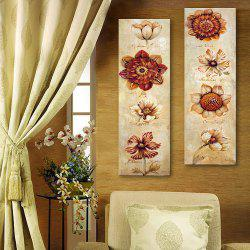Special Design Frameless Paintings Abstract Flowers Pattern 2PCS -