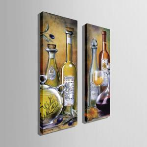 Special Design Frameless Paintings Wine Pattern 2PCS -