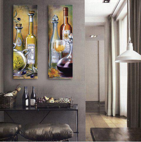 Fancy Special Design Frameless Paintings Wine Pattern 2PCS