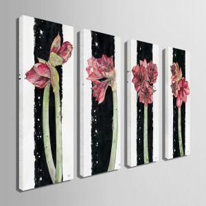 Special Design Frameless Paintings Flowers All Over The Place Pattern 4PCS -