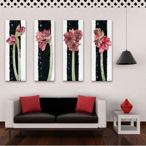 Hot Special Design Frameless Paintings Flowers All Over The Place Pattern 4PCS