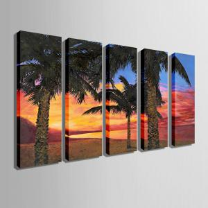 Special Design Frameless Paintings Seaside Woods Pattern 5PCS -
