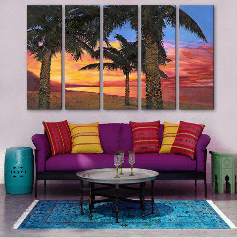 Trendy Special Design Frameless Paintings Seaside Woods Pattern 5PCS