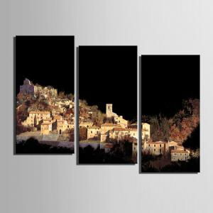 Special Design Frameless Paintings Village on The Mountain Pattern 3PCS -