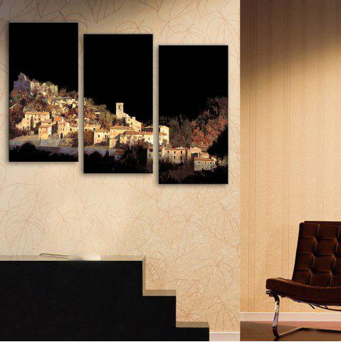 Cheap Special Design Frameless Paintings Village on The Mountain Pattern 3PCS