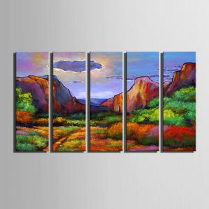Special Design Frameless Paintings Abstract Valley Pattern 5PCS -