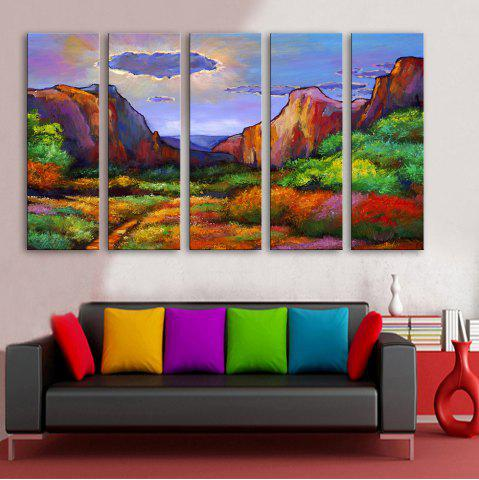 Shop Special Design Frameless Paintings Abstract Valley Pattern 5PCS