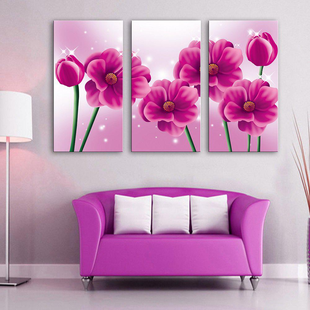 Store Special Design Frameless Paintings Pink memory 3PCS