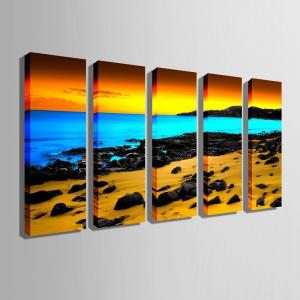Special Design Frameless Paintings Three color seaview 5PCS -