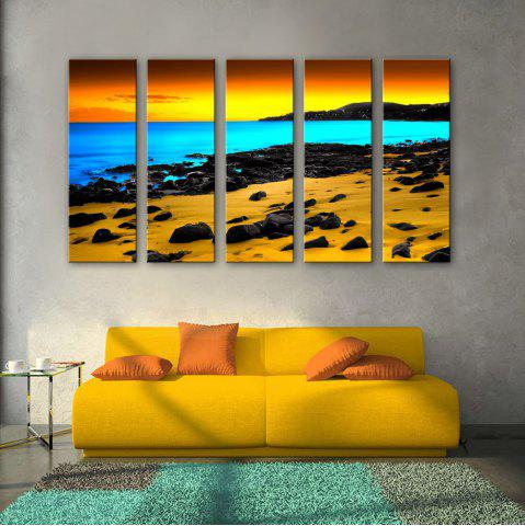 Best Special Design Frameless Paintings Three color seaview 5PCS