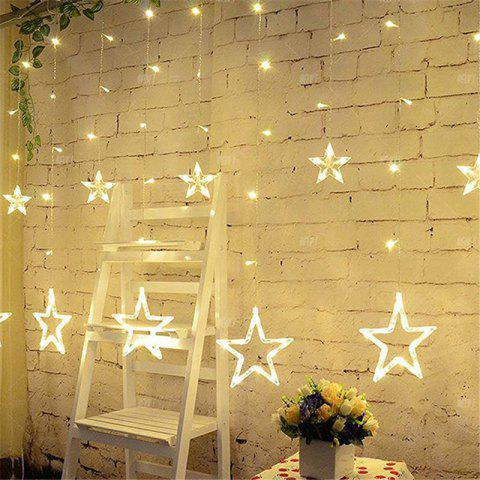 Store 2M Romantic Fairy Star Led Curtain String Light EU 220V Xmas Garland Light for Wedding Party Holiday Decor