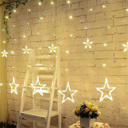 2M Romantic Fairy Star Led Curtain String Light EU 220V Xmas Garland Light for Wedding Party Holiday Decor -