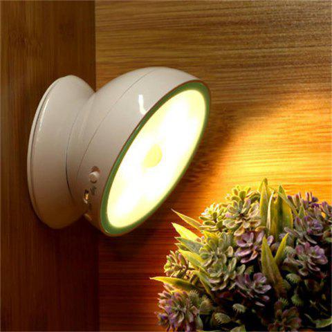 Outfit 360 Degree Rotate Intelligent LED Night Light Human Body Sensor Lamp Magnetic Adsorption Corridor Wardrobe Wall Lamp