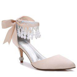 17767-18Women's Shoes Satin Spring Summer Basic Pump Comfort Ankle Strap Wedding Shoes Low Heel -