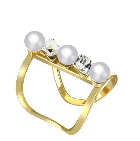Fashion Women's Fashion Opening Long Pearls Rings Adjustable Charm Jewelry