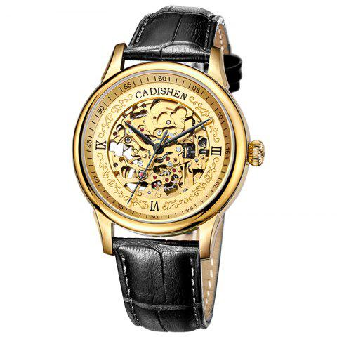 Buy CADISEN C8066 Hollow-out Stainless Steel Band Men Mechanical Wristwatch