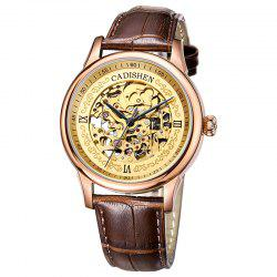 CADISEN C8066 Hollow-out Stainless Steel Band Men Mechanical Wristwatch -