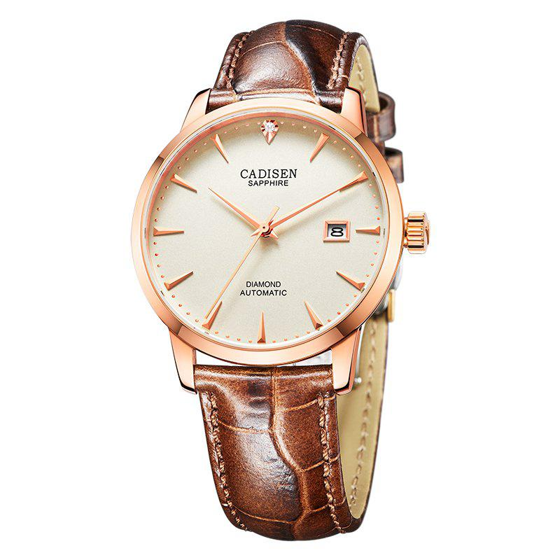 Buy Cadisen C8097 Men Stainless Steel Brand Clock Automatic Watch