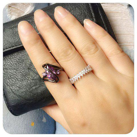 Sale Women Fashion Diamond-Encrusted Jewelry  Plated Ring - Zircon