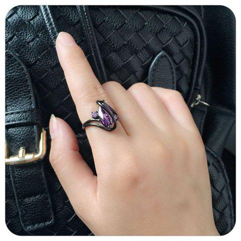 Chic Women Fashion Diamond-Encrusted Jewelry  Plated Ring - Zircon