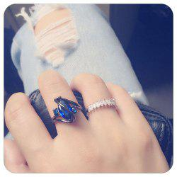 Women Fashion Diamond-Encrusted Jewelry  Plated Ring - Zircon -