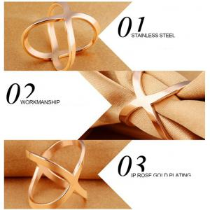 2017 Europe Style Geometric Wide Gold  Width Hollow Cross Rings for Women Trendy Ring Jewelry Female Finger Ring Anillos A0156 -