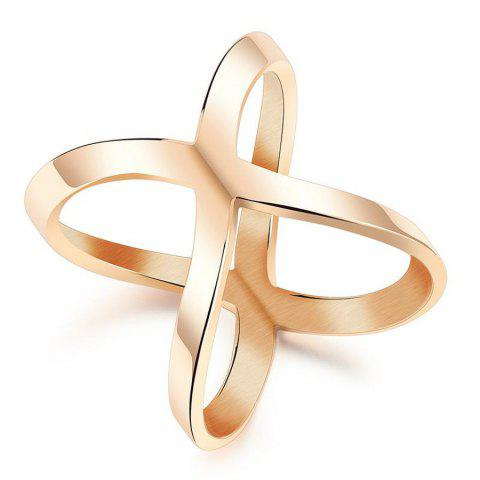 Chic 2017 Europe Style Geometric Wide Gold  Width Hollow Cross Rings for Women Trendy Ring Jewelry Female Finger Ring Anillos A0156