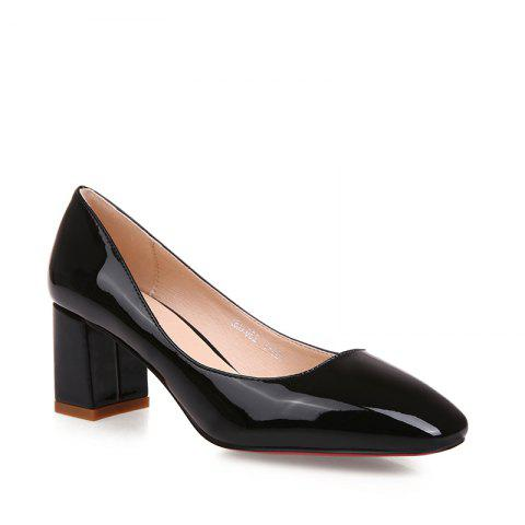 Best Women's Heels Spring Summer Formal Shoes Patent Leather Dress Chunky Heel