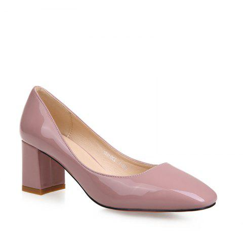 Affordable Women's Heels Spring Summer Formal Shoes Patent Leather Dress Chunky Heel