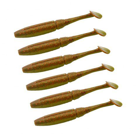 Discount HONOREAL 5CM Bass Soft Plastic Bait Freshwater and Saltwater Shrimp Flavour Fishing Lure 6PCS