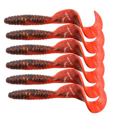 Outfit HONOREAL 6.5CM Bass Lure for Deep and Shallow Water Fishing Baits 6PCS