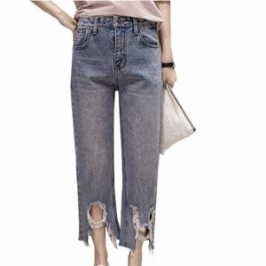 College Wind Burrow Making Old Holes  Jeans -